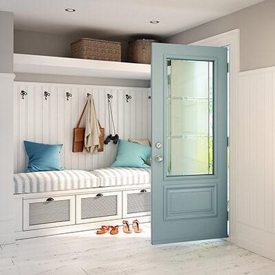 A modern sky blue colored door ... & 2018 Front Door Buyeru0027s Guide