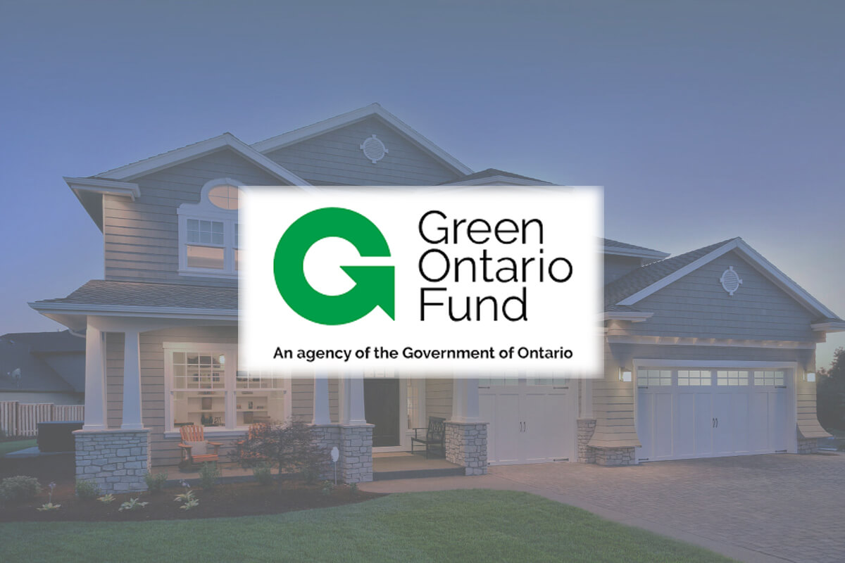 GreenON logo on beauty shot of a house with newer windows and doors.