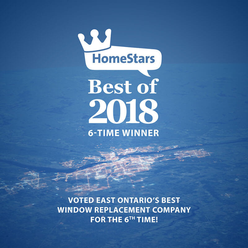 Verdun Windows and Doors was voted East Ontario's best window replacement company for the 6th time by HomeStars.