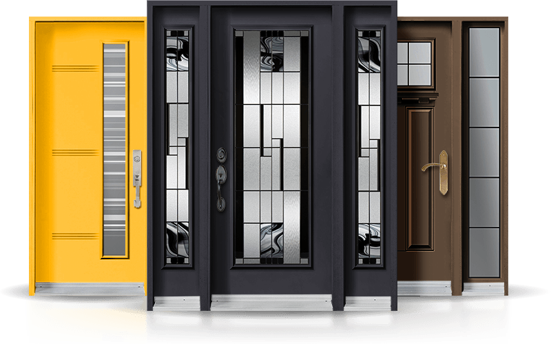 A Variety of front doors