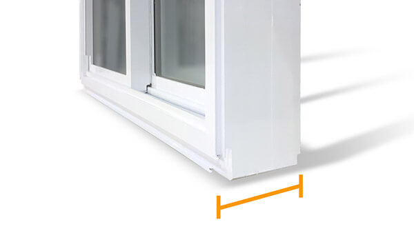 "Double Slider Windows - 4½"" fusion-welded frame"