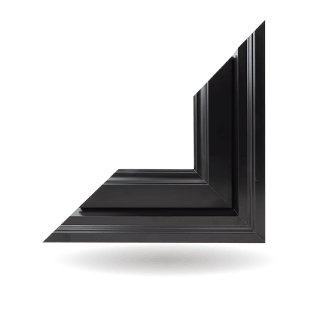 Hybrid PVC / Aluminum Custom Shaped Windows in Black