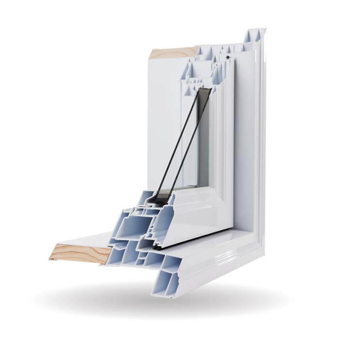 Hybrid PVC / Aluminum Awning Windows in White