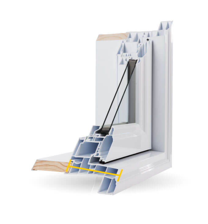 Bay Windows - 4 1/2″ PVC Welded Frame