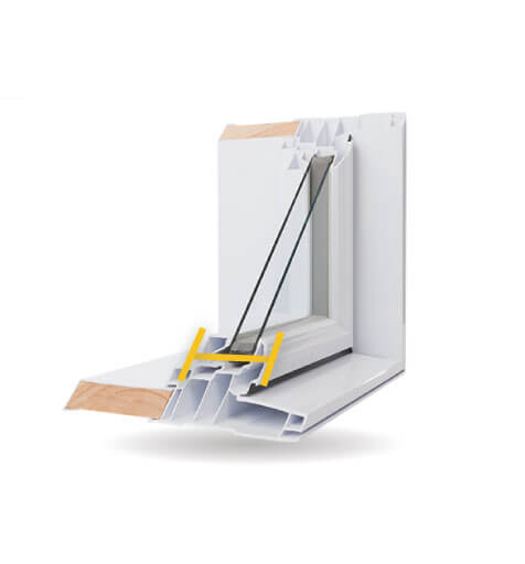 Custom Shaped Windows - 4 1/2″ PVC Welded Frame