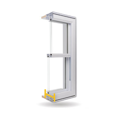 Double Hung Windows - 4 1/2″ PVC Welded Frame
