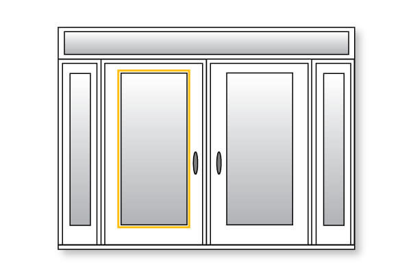 Steel Entry Doors - Glass Insert Option