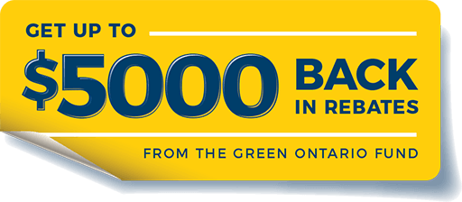 Green Ontario Fund up to $5000 in rebates on energy star Most Efficient windows graphic