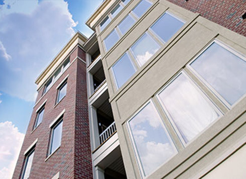 A condominium with Verdun windows installed