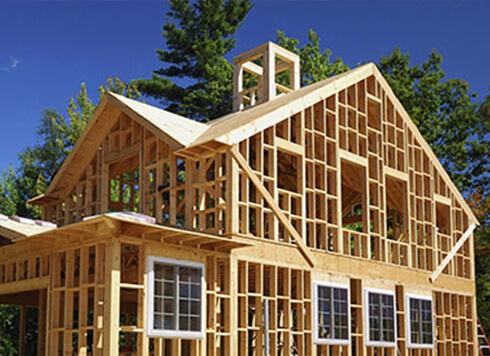 A new home being built with custom, replacement windows
