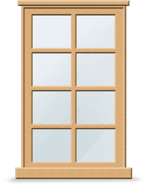 A wooden window circa 100AD
