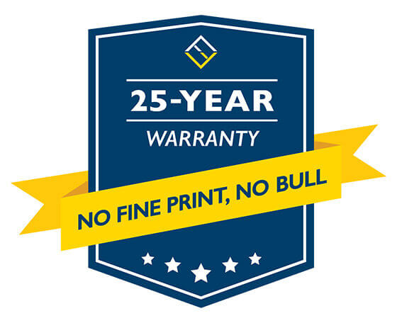 20 year warranty from Verdun Windows and Doors. No fine print. No bull.