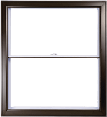 A Commerical Brown Hybrid PVC / Aluminum Double Hung Window by Verdun