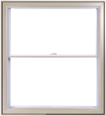 An Ivory Hybrid PVC / Aluminum Double Hung Window by Verdun