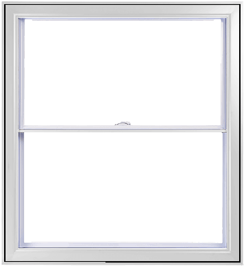 A White Hybrid PVC / Aluminum Double Hung Window by Verdun