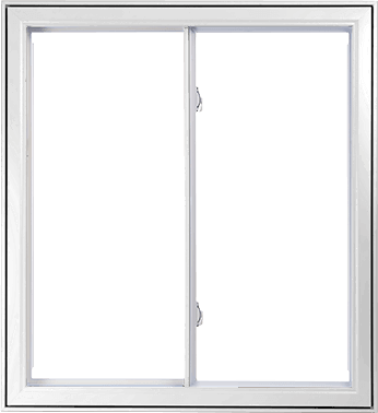 A White Hybrid PVC / Aluminum Double Slider Window by Verdun